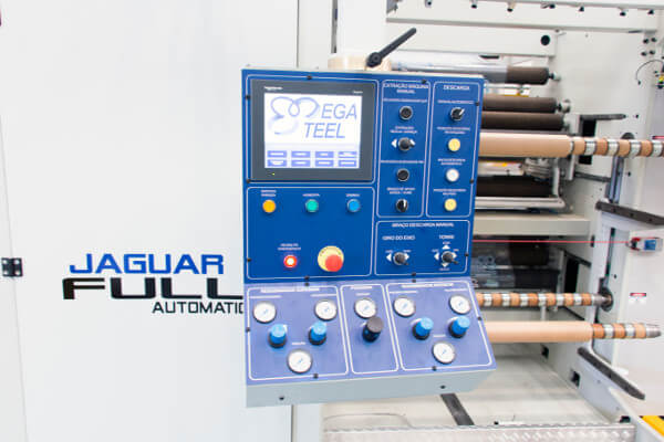 Automação, Controles e Painel da Rebobinador da Rebobinadeira Jaguar Full Automatic
